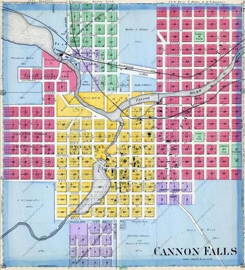 Cannon Falls Old Map 480