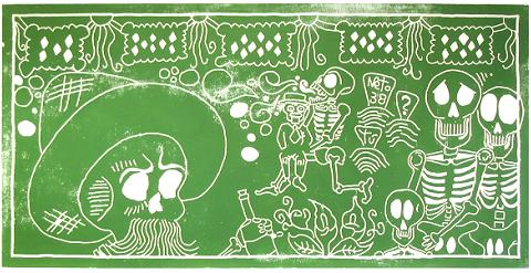 Betto Limon: 2006 Northfield Day of the Dead Steamroller Prints