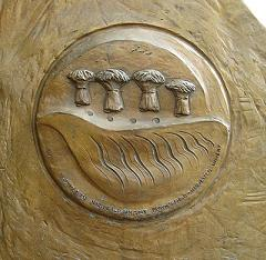 "Element on bronze sculpture ""Harvest"""