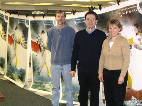 Printer/Artist Rick Swearer, Sponsor John Mathern, Artist Kari Alberg